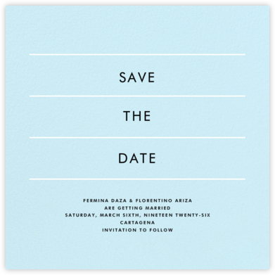 Lineal II (Save the Date) - Glacier - Paperless Post -