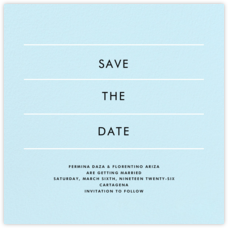 Lineal II (Save the Date) - Glacier