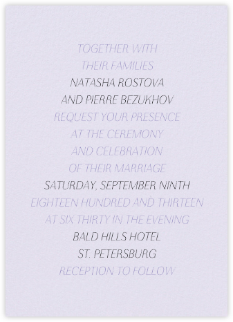 Insigne II - Taro - Paperless Post - Wedding Invitations