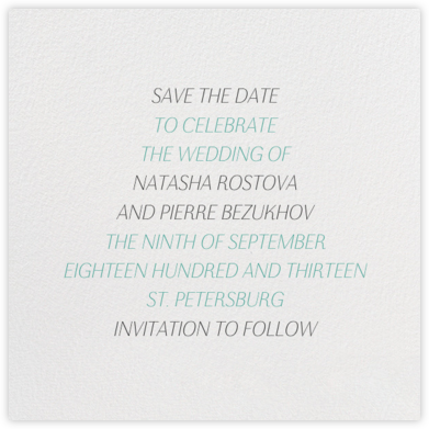 Insigne II (Save the Date) - Ivory | null