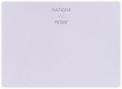 Insigne II (Stationery) - Taro - Paperless Post -