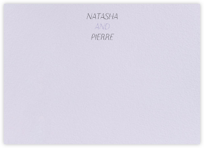 Insigne II (Stationery) - Taro - Paperless Post - Personalized Stationery