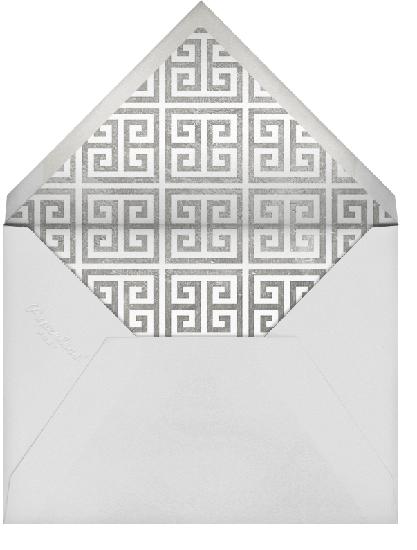 Greek Key (Metallic) - Silver - Jonathan Adler - General entertaining - envelope back