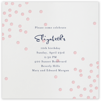 Pink Dots - Linda and Harriett - Online Kids' Birthday Invitations