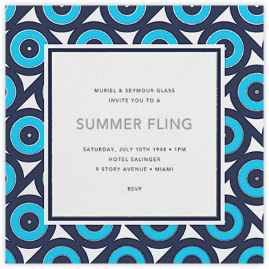Archer - Blue - Jonathan Adler - Summer Entertaining Invitations