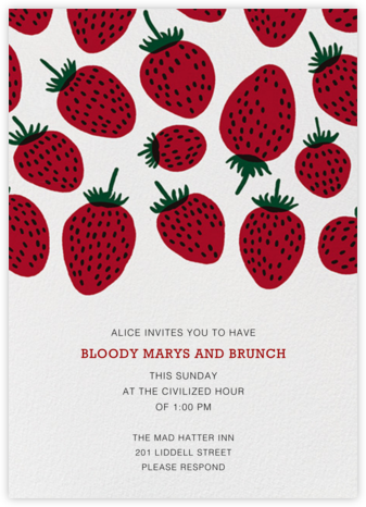 Pieni Mansikka - Marimekko - Brunch invitations