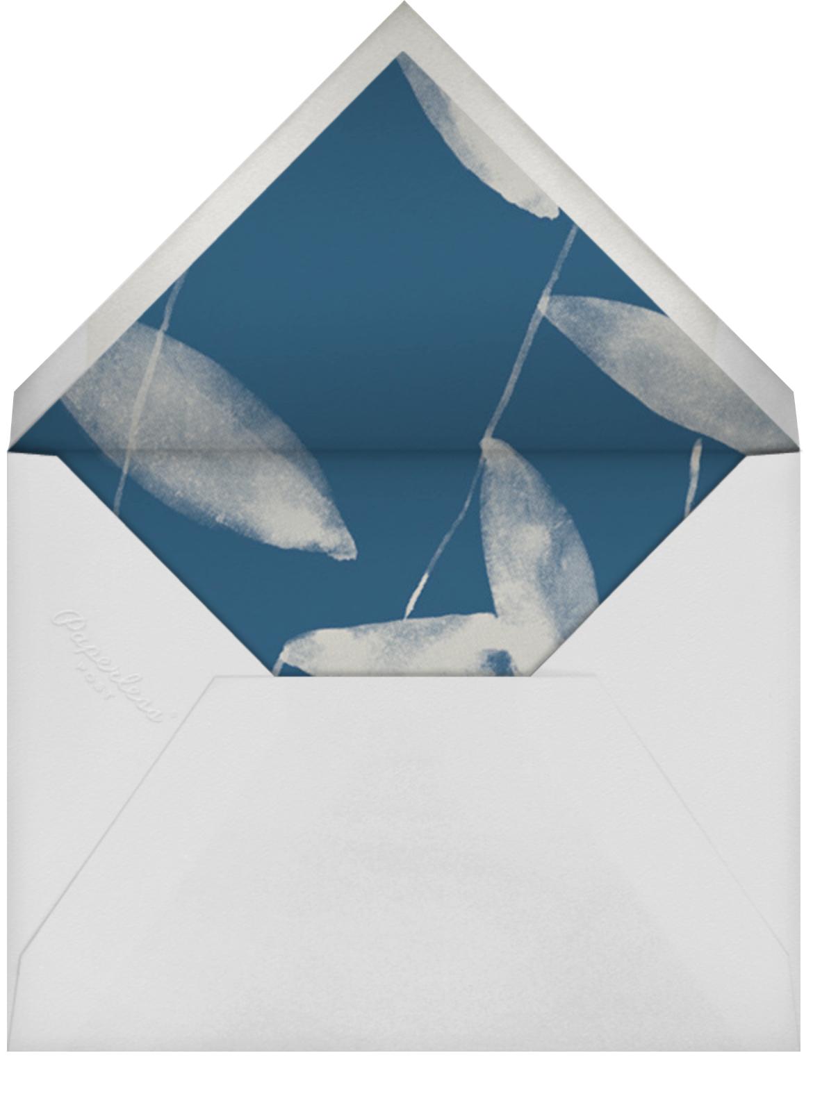 Salava (Stationery) - Blue - Marimekko - Personalized stationery - envelope back
