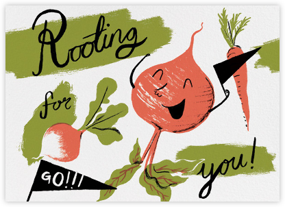 Rooting for You (Nicholas John Frith) - Red Cap Cards - Good Luck Cards