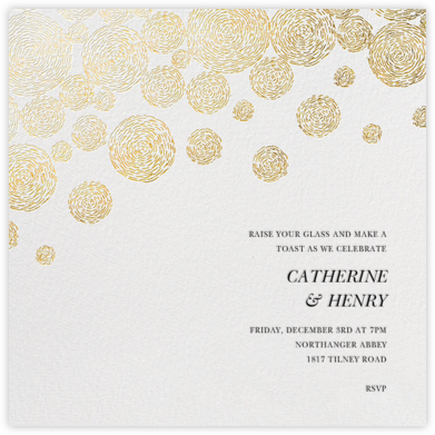 Radiant Swirls (Square) - Oscar de la Renta - Engagement party invitations