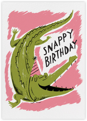 Snappy Birthday (Nicholas John Frith) - Red Cap Cards - Birthday Cards