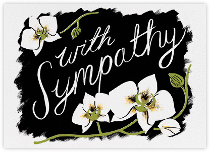 Sympathy Orchid (Nicholas John Frith) - Red Cap Cards - Online Greeting Cards
