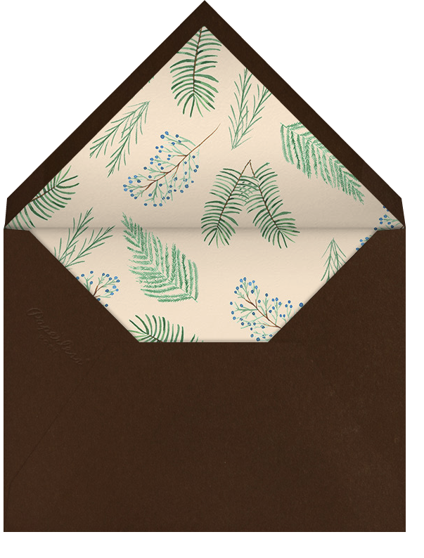 Juniper and Pine - Paperless Post - Holiday cards - envelope back