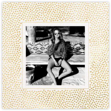 Konfetti (Photo) - Gold - Kelly Wearstler - Adult Birthday Invitations