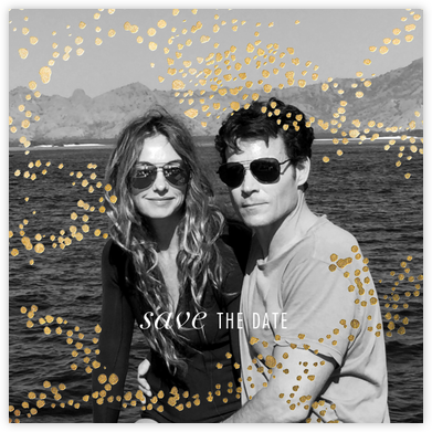 Evoke (Photo Save the Date) - Gold - Kelly Wearstler - Gold and metallic save the dates