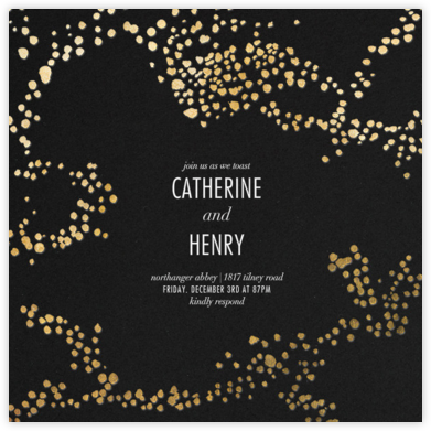 Evoke (Square) - Black/Gold - Kelly Wearstler - Engagement party invitations