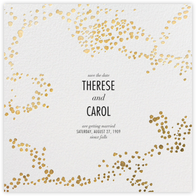Evoke (Save the Date) - White/Gold - Kelly Wearstler - Gold and metallic save the dates