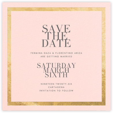 Editorial II (Save the Date) - Meringue/Gold | null
