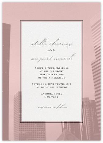 City Panoramic - Pavlova - Paperless Post - Wedding Invitations