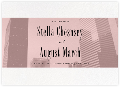 City Panoramic (Save the Date) - Pavlova - Paperless Post - Photo save the dates