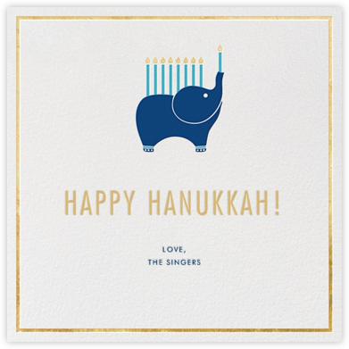 Elephant's Menorah - Ivory - Jonathan Adler - Hanukkah Cards