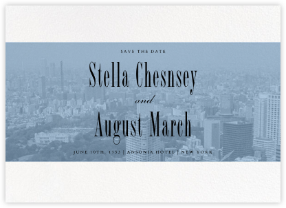 City Panoramic (Save the Date) - Spring Rain - Paperless Post - Save the dates