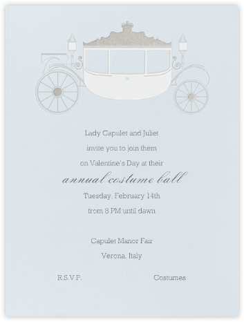 Carriage - Silver Blue - Paperless Post -