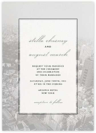 City Panoramic - White - Paperless Post - Wedding Invitations