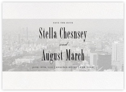 City Panoramic (Save the Date) - White - Paperless Post - Photo save the dates