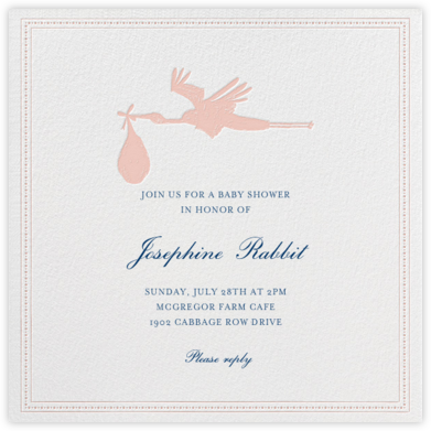A Stork's Delivery - Pink - Mr. Boddington's Studio - Celebration invitations