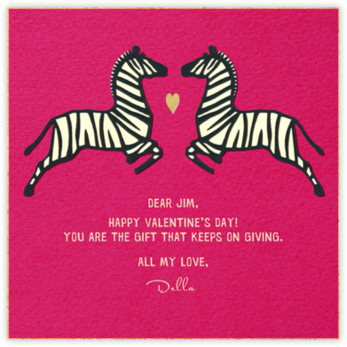 Zebra Love - Paperless Post - Valentine's Day Cards