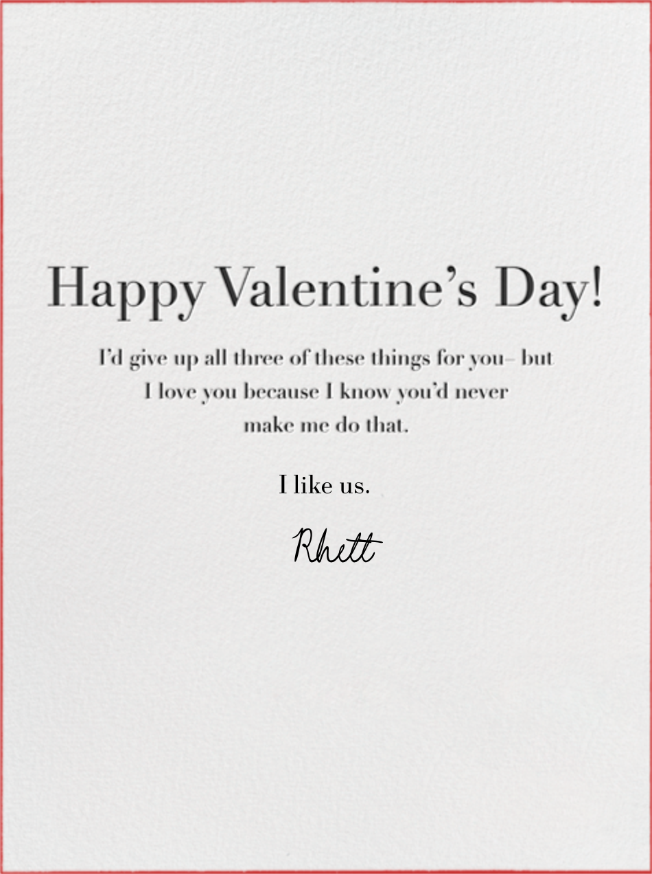 My Favorite Thing - Paperless Post - Valentine's Day - insert front
