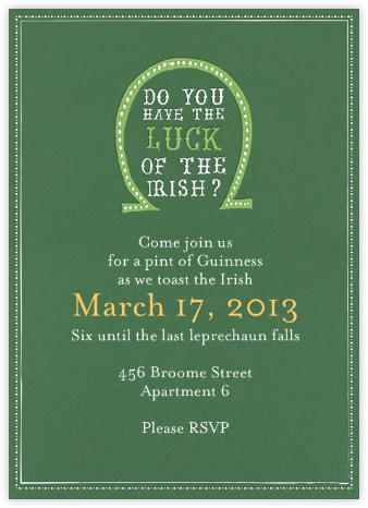 st patrick s day invitations online at paperless post