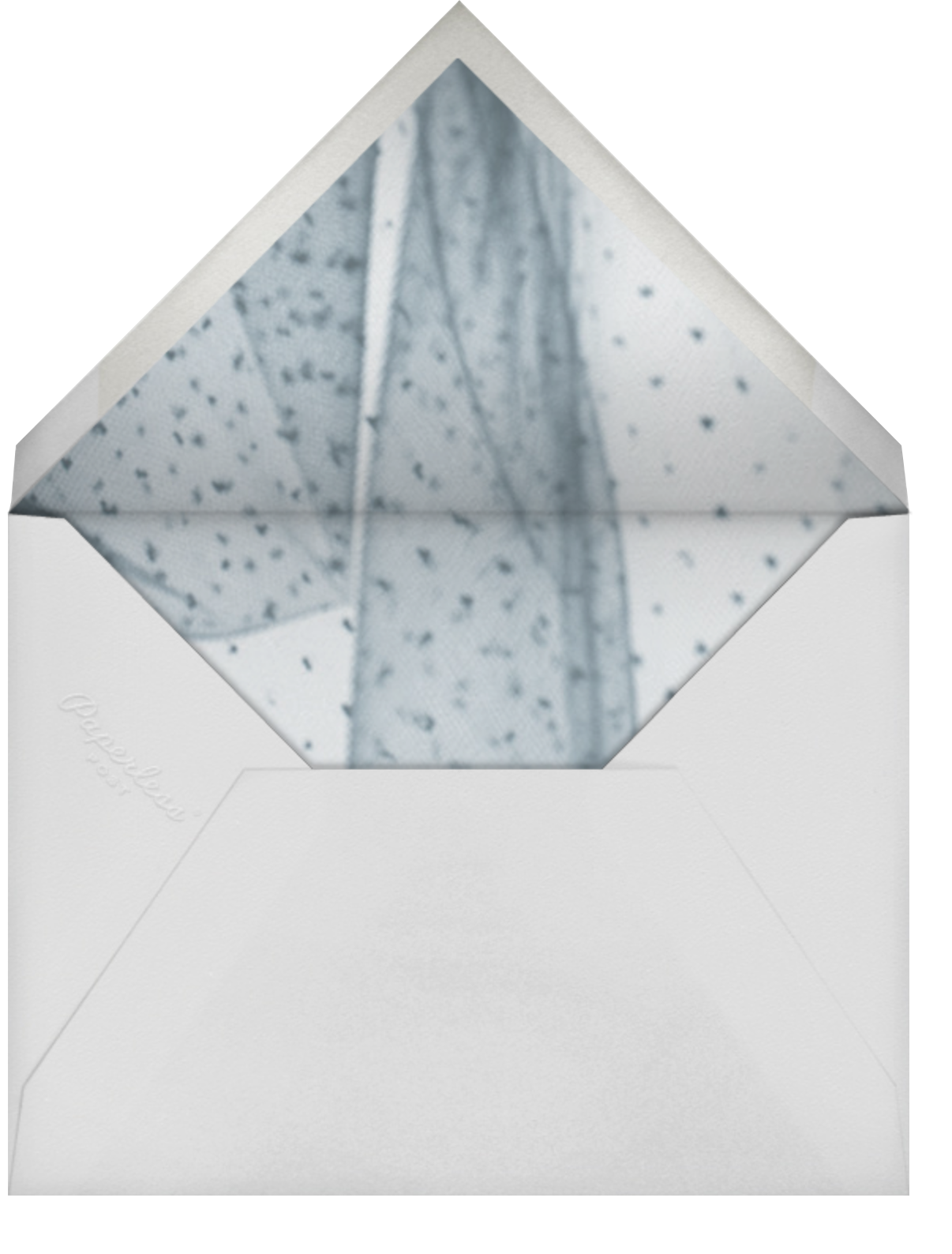 Navy (Tall) - Paperless Post - Charity and fundraiser  - envelope back