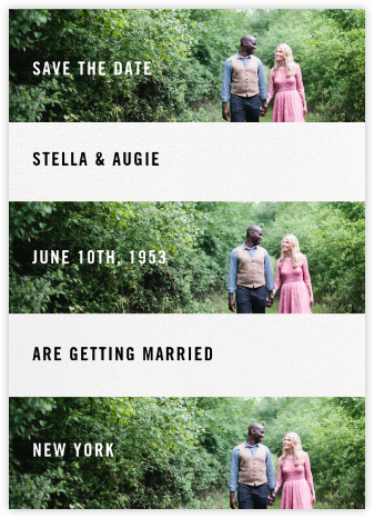 Three Photo Bands - Paperless Post - Modern save the dates