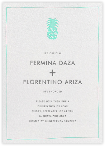 Piña - Lagoon - Linda and Harriett - Engagement party invitations