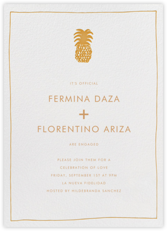 Piña - Mango - Linda and Harriett - Engagement party invitations