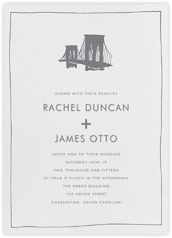 Borough - Grey - Linda and Harriett - Wedding Invitations