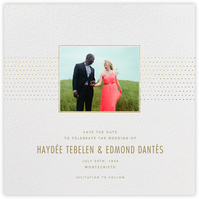 Dotted Band - Paperless Post - Photo save the dates