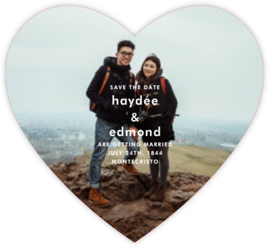 Full Bleed Heart (Single-Sided) - Paperless Post - Wedding Save the Dates