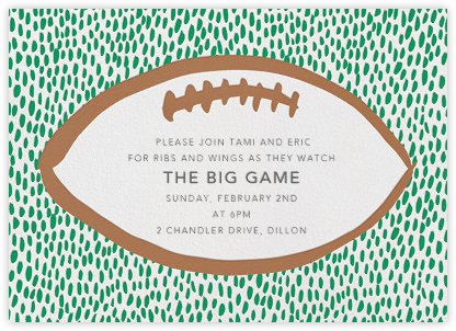 End Zone - Linda and Harriett - Sporting Event Invitations
