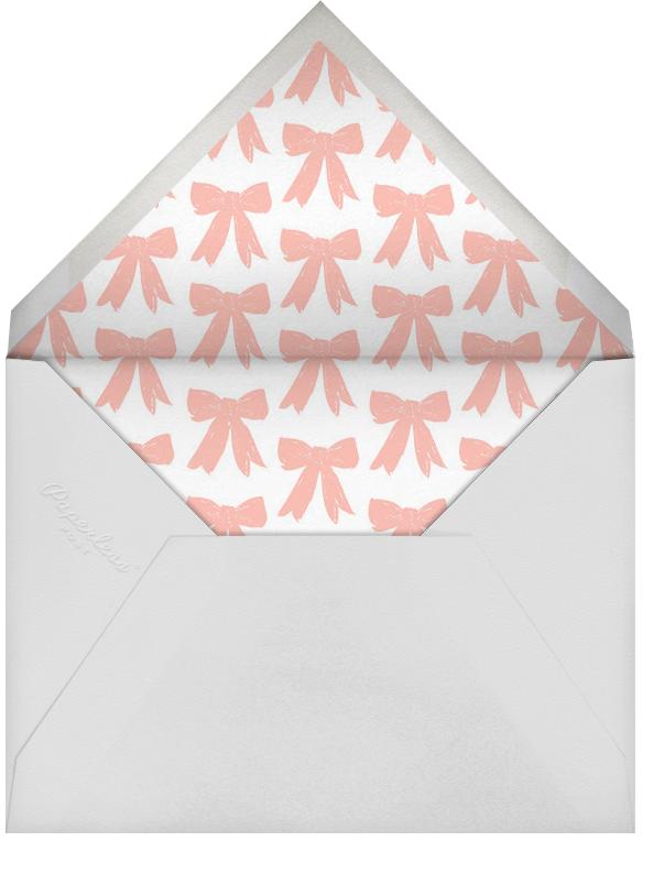 Big Pink Bow - Linda and Harriett - Baby shower - envelope back