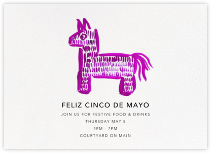 Swinging Burro - Linda and Harriett - Cinco de Mayo Invitations