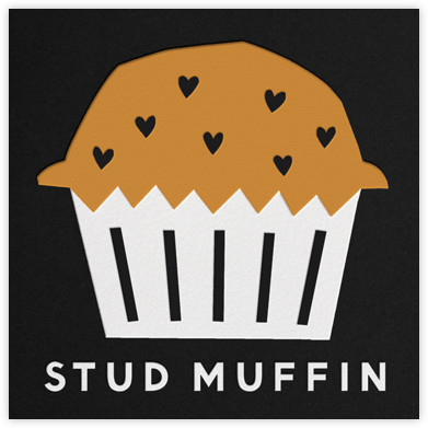 Stud Muffin - The Indigo Bunting - Valentine's day cards