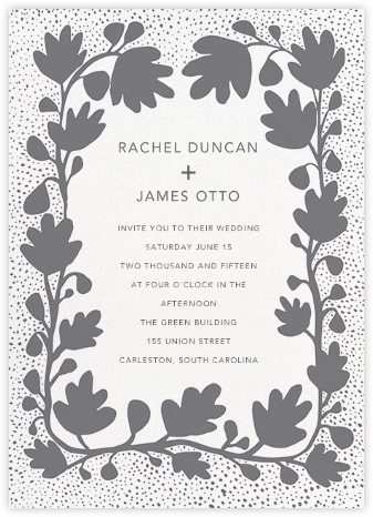 Ficus - Gray - Linda and Harriett - Wedding Invitations