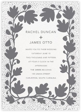 Ficus - Gray - Linda and Harriett - Wedding Invitations