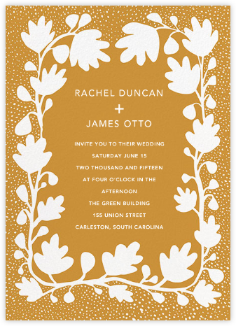 Ficus - Mango - Linda and Harriett - Wedding Invitations