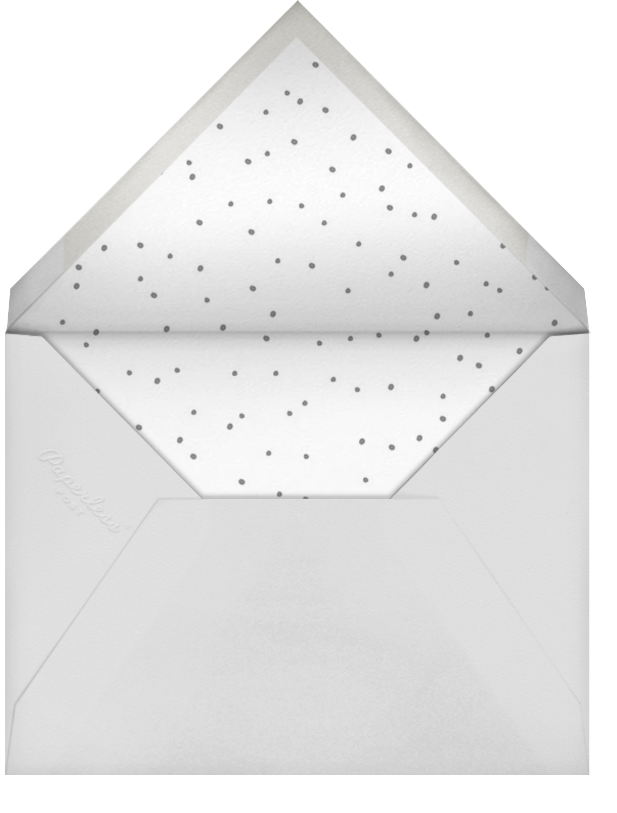 Ficus - Grey - Linda and Harriett - Cocktail party - envelope back