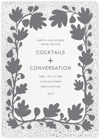 Ficus - Grey - Linda and Harriett - Autumn entertaining invitations
