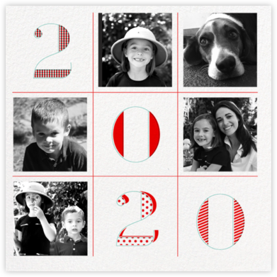 2020 Tic Tac Toe - Paperless Post - Holiday cards
