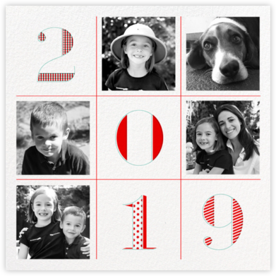 2019 Tic Tac Toe - Paperless Post - Holiday cards
